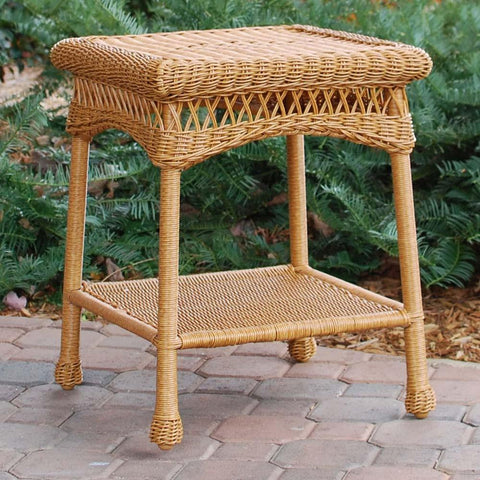 Tortuga Outdoor Portside Wicker End Table