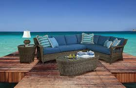 St. John 5-Piece Wicker Sectional-Right Set by South Sea Rattan