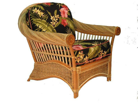 Spice Islands Spice Islands Maui Twist Arm Chair Natural Chair - Rattan Imports
