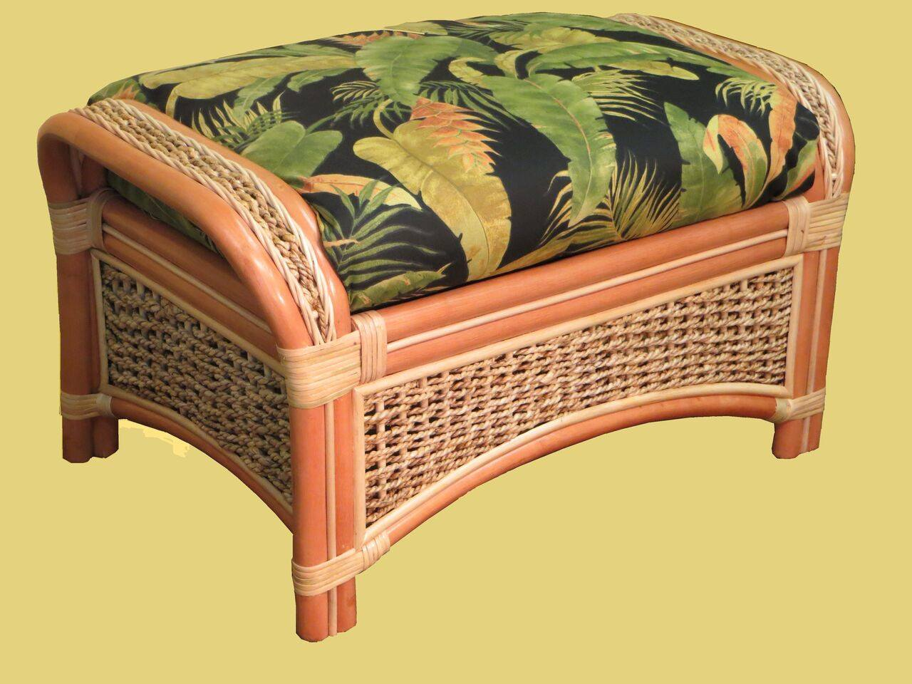 Spice Islands Islander Ottoman Natural - Rattan Imports
