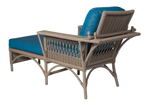 Designer Wicker & Rattan By Tribor - Windsor Chaise w/ Adjustable Back -  -
