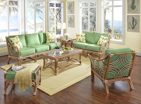Spice Islands Spice Islands Bali Wicker Loveseat Natural Loveseat - Rattan Imports