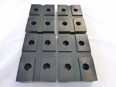 Globe Lift Arm Pad replacement (4 Pads) Rectangle 4 Bolt On - Replacement Kits