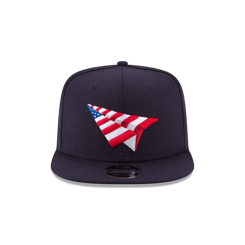 PAPER PLANES NAVY AMERICAN DREAM CROWN SNAPBACK WITH PIN