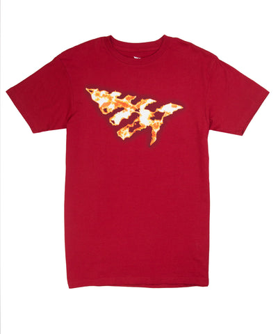 PAPER PLANES RED ON FIRE TEE
