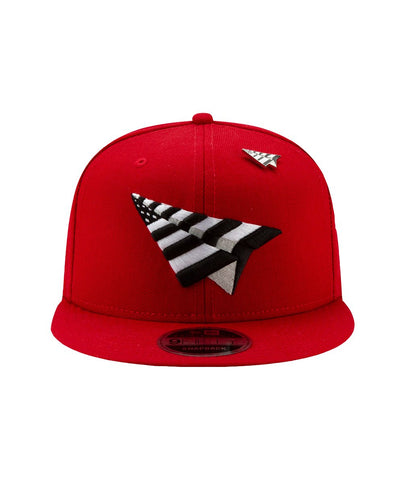 "PAPER PLANES THE ORIGINAL CROWN CRIMSON ""FITTED"""