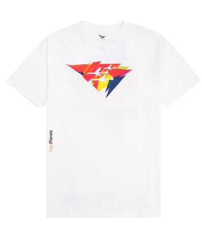 PAPER PLANES ANGLES OVERSIZE WHITE TEE
