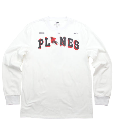 PAPER PLANES  PLANES OF A FEATHER WHITE LONGSLEEVE TEE