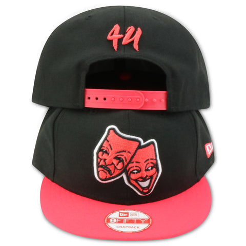 4UCAPS FACES OF LIFE NEW ERA SNAPBACK (AIRJORDAN 6 RETRO INFRARED)