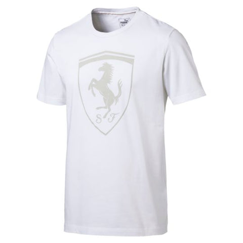 PUMA FERRARI BIG SHIELD WHITE TEE