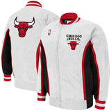 CHICAGO BULLS 1992-93 MITCHELL & NESS AUTHENTIC WHITE WARM UP JACKET