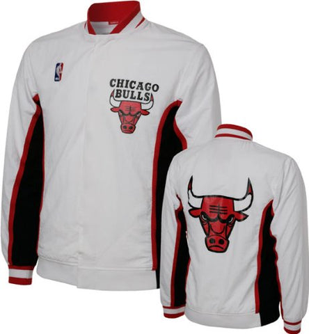 37b097e23f1 CHICAGO BULLS 1992-93 MITCHELL   NESS AUTHENTIC WHITE WARM UP JACKET