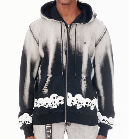 CULT HOODED SWEATSHIRT IN PLASTER