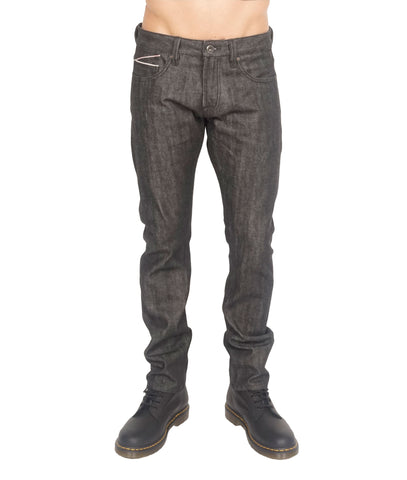 CULT ROCKER SLIM BLACK DRY DENIM JEANS