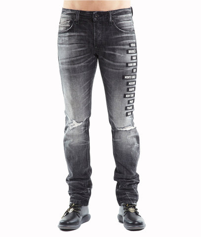 CULT GREASER SLIM STRAIGHT JEANS