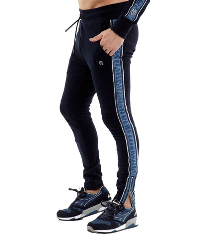 CULT NAVY SLIM FIT DENIM STRIPE JOGGER