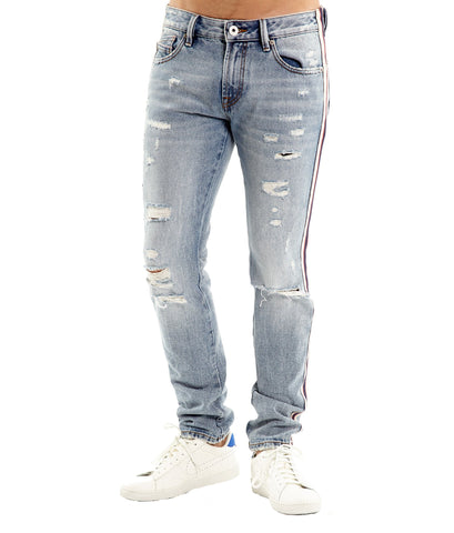 CULT DENIM ROCKER SLIM JEANS IN KINEVIL