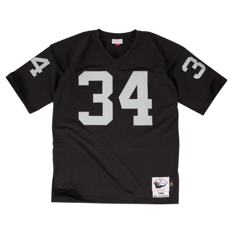 OAKLAND RAIDERS BO JACKSON #34 MITCHELL & NESS  AUTHENTIC THROWBACK 1990 JERSEY