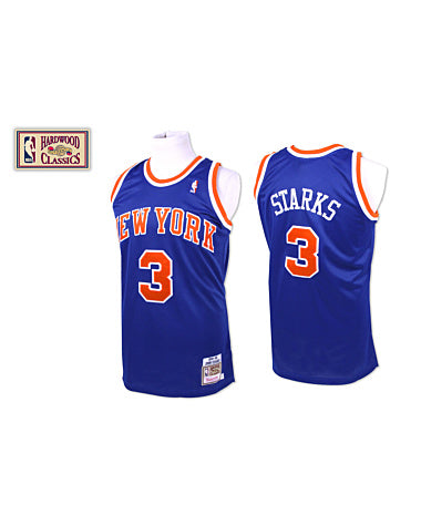 JOHN STARKS NEW YORK KNICKS #3 MITCHELL & NESS AUTHENTIC THROWBACK 1991-92 JERSEY