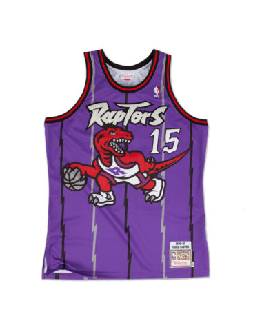 VINCE CARTER TORONTO RAPTORS #15 MITCHELL & NESS AUTHENTIC THROWBACK 1998-99 JERSEY
