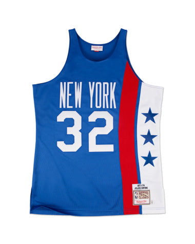 JULIUS ERVING #32 NEW YORK NETS MITCHELL & NESS  AUTHENTIC THROWBACK 1973-74 JERSEY