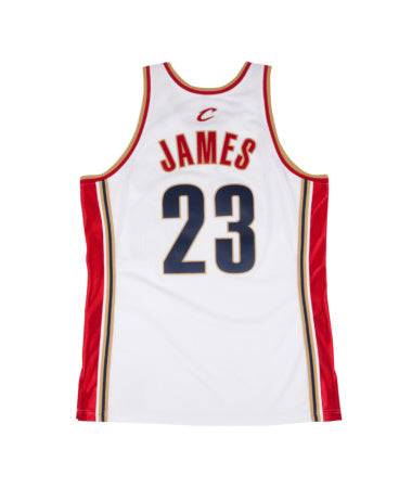 LEBRON JAMES CAVALIERS MITCHELL & NESS AUTHENTIC 2003-04THROWBACK JERSEY