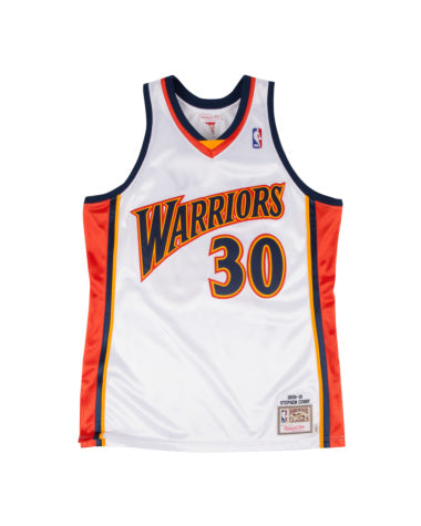 STEPHEN CURRY GOLDEN STATE WARRIORS #30 MITCHELL & NESS  AUTHENTIC THROWBACK 2009-10 JERSEY