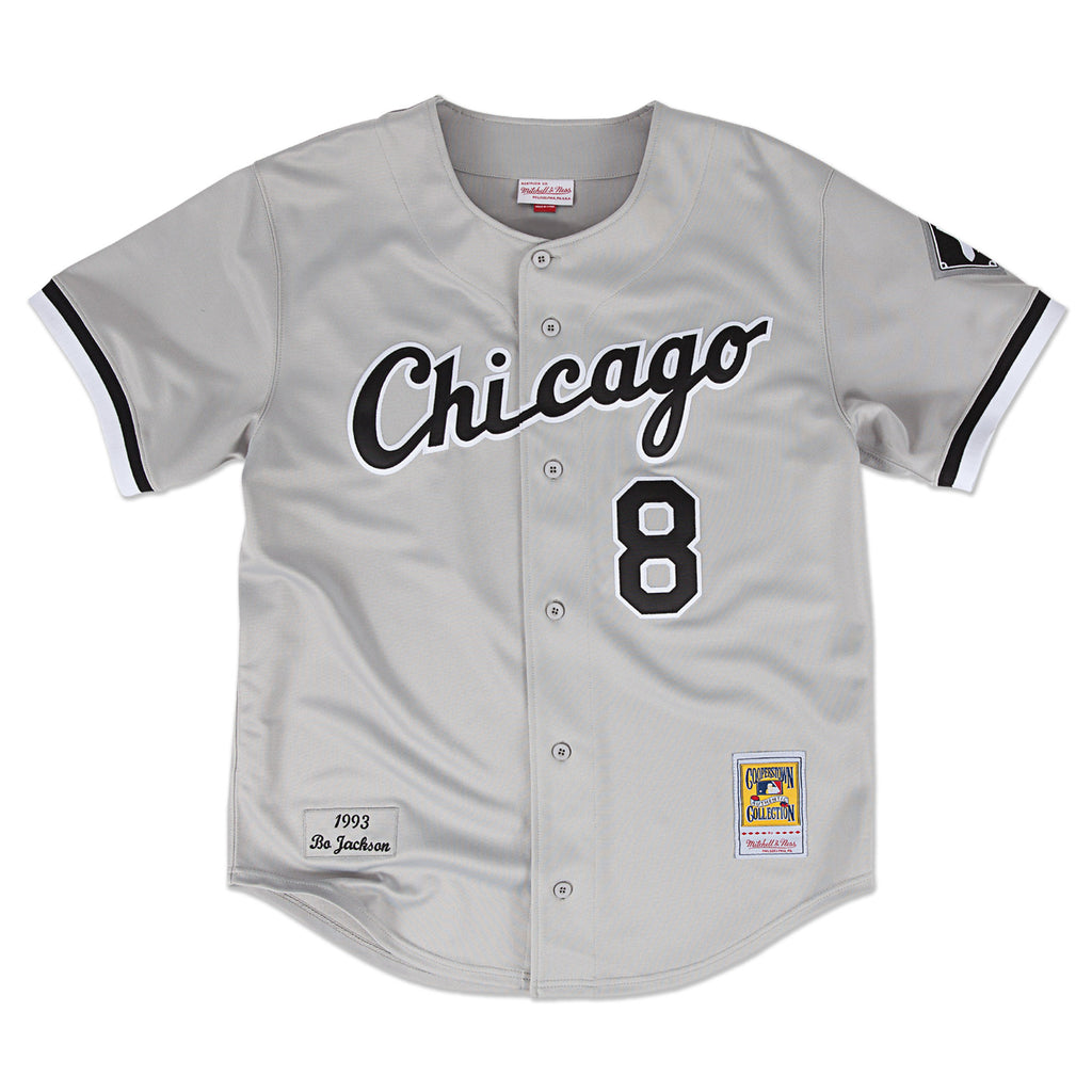 d71bf4ce ... coupon code for chicago whitesox bo jackson 8 mitchell ness authentic  throwback jersey cf9aa 942b3