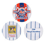 NEW YORK METS DARYLL STRAWBERRY #18 MITCHELL & NESS AUTHENTIC THROWBACK JERSEY
