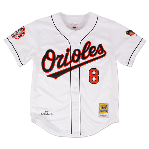 ORIOLES CAL RIPKEN JR. #8 MITCHELL & NESS AUTHENTIC THROWBACK