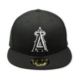 ANAHEIM ANGELS (BLACK/WHITE) NEW ERA 59FIFTY FITTED (GREY BOTTOM)