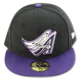ANAHEIM ANGELS NEW ERA 59FIFTY FITTED (EGGPLANT FOAMS)