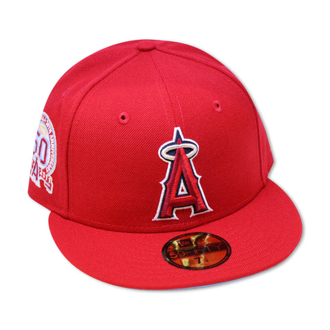 "ANAHIEM ANGELS ""50TH ANN"" NEW ERA 59FIFTY FITTED (SKY BLUE BOTTOM)"