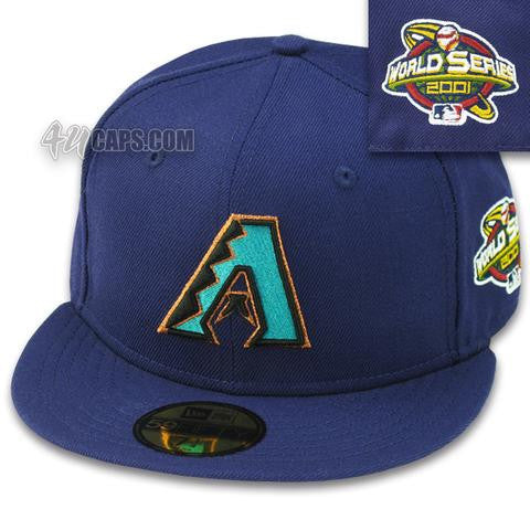 ARIZONA DIAMONDBACKS PURPLE 2001 WORLD SERIES NEW ERA 59FIFTY FITTED