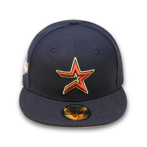 "HOUSTON ASTROS ""2005 WORLDSERIES"" NEW ERA 59FIFTY FITTED (GOLD BOTTOM)"