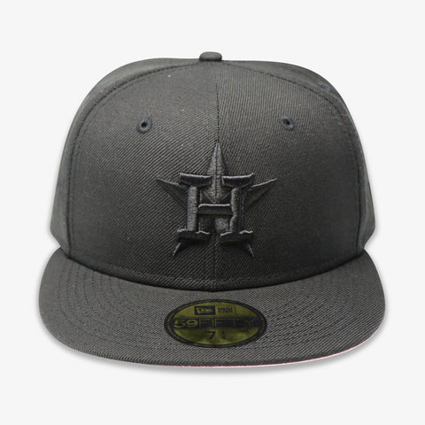 "HOUSTON ASTROS (2017 WS ""BLACKOUT SERIES"") NEW ERA 59FIFTY FITTED (PINK BOTTOM)"