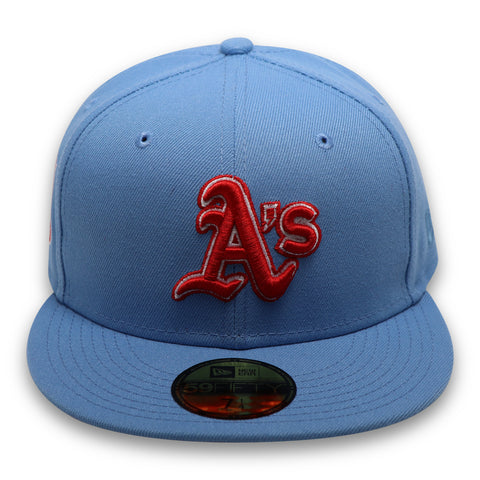 "OAKLAND ATHLETICS (50TH ANN ""1968-2018"") NEW ERA 59FIFTY FITTED (RED BOTTOM)"