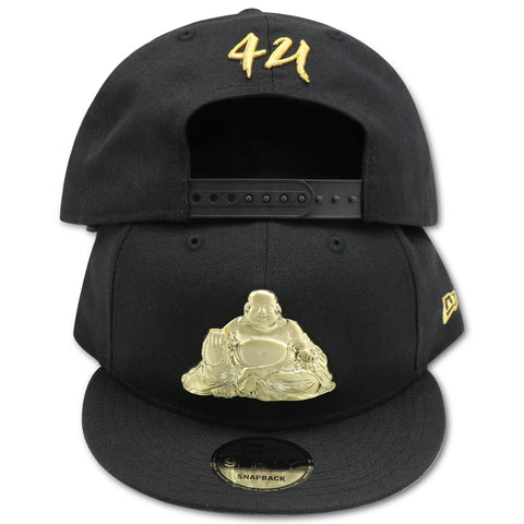 BUDDHA BLISS METALLIC GOLD LOGO NEW ERA 9FIFTY SNAPBACK