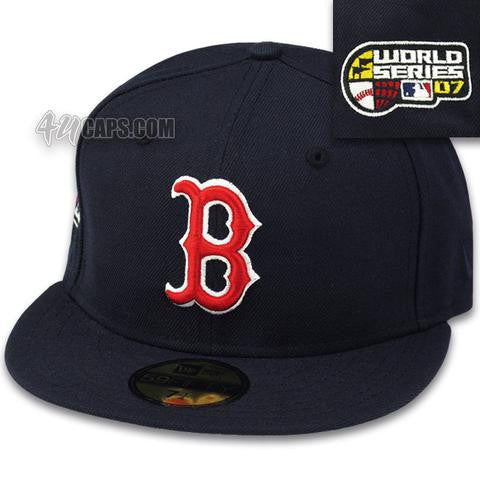BOSTON RED SOX 2007 WORLD SERIES NEW ERA 59FIFTY FITTED (GREY BRIM ... 0a95dcb9c28