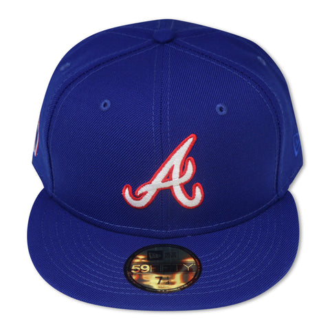 "ATLANTA BRAVES ""HANK AARONS"" NEW ERA 59FIFTY FITTED (SKY BOTTOM)"