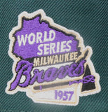 "MILWAUKEE BRAVES ""1957 WORLDSERIES"" NEW ERA 59FIFTY FITTED (PURPLE BOTTOM)"