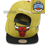 CHICAGO BULLS TAN STRAW SNAPBACK BY MITCHELL & NESS (201AZ-TAN)