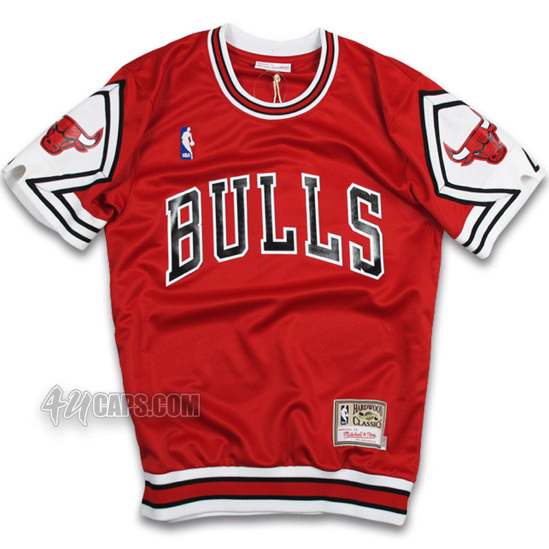 0c990581378 CHICAGO BULLS 1987-88 AUTHENTIC SHOOTING SHIRT BY MITCHELL   NESS –  4ucaps.com
