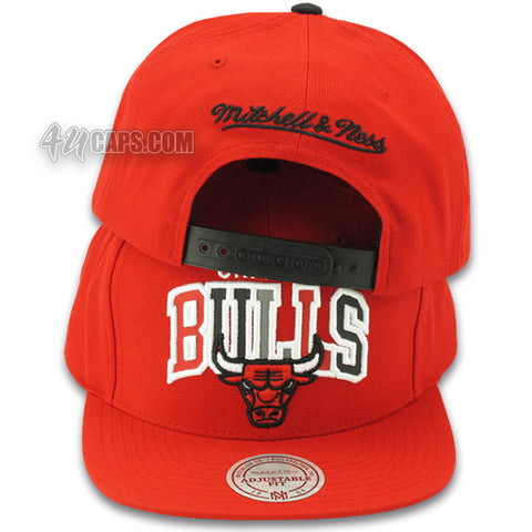 CHICAGO BULLS NBA REFLECTIVE TRI POP SNAPBACK BY MITCHELL & NESS