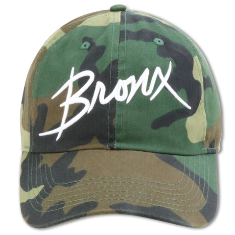 "MIGHTY NYC THE BRONX ""YOU ALREADY KNOW"" CAMO DAD HAT"