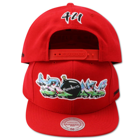 BRONX BOMBER 4UCAPS EXCLUSIVE MITCHELL & NESS SNAPBACK (RED)