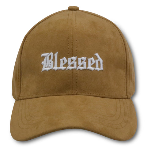 AFFLUENT BLESSED TAN SUEDE DAD HAT