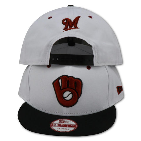 "MILWAUKEE BREWERS NEW ERA  AIR JORDAN 6 ""CARMINE"" SNAPBACK"
