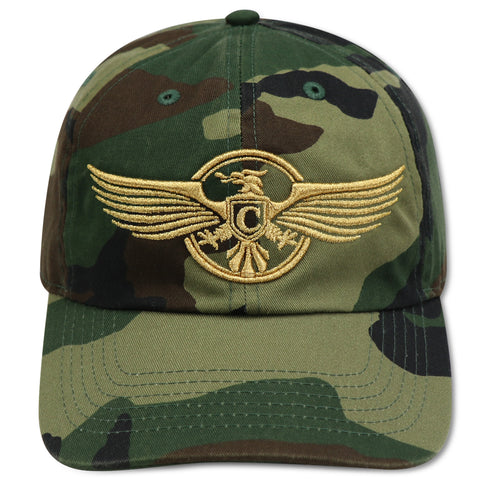 4U CUSTOM STRIPE CLUB VETERANS CAMO DAD HAT