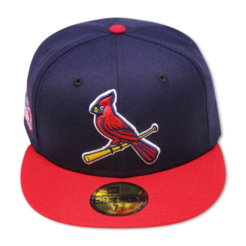 "ST. LOUIS CARDINALS  ""2011 WORLDSERIES"" NEW ERA 59FIFTY FITTED (PINK BOTTOM)"